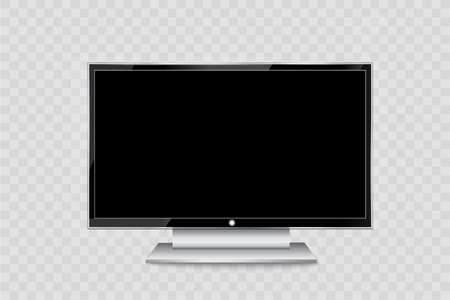 resolutions: Flat led monitor of computer or black photo frame isolated on a transparent background.