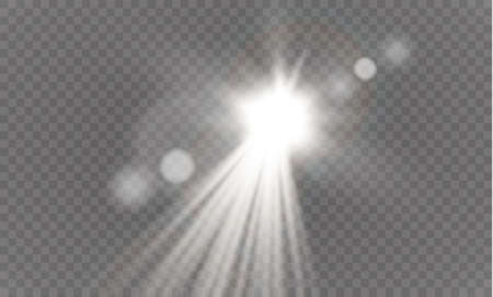 special effect: Abstract lens gold front solar flare transparent special light effect design. Illustration