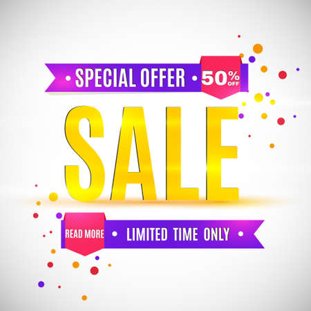Incredible Wow Sale banner design template. Big super sale special offer, save up to 50 off. Vector illustration.  イラスト・ベクター素材