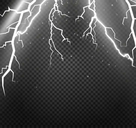 bolt: Set of lightnings. Magic and bright lighting effects. Vector Illustration