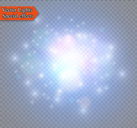 Abstract golden sparkler effect with white sparks modern design. Glow sparkling firework light. Sparkles light vector on transparent background. Christmas Concept.