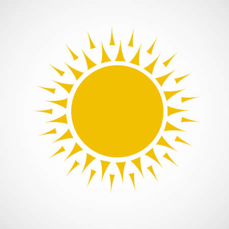 Sun Icon.vector illustration.yellow color.beautiful and bright.