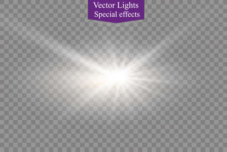 special effects: star on a transparent background,light effect,vector illustration. burst with sparkles.