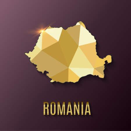 Romania World map. World geography. vector illustration.
