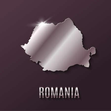 symbolics: Romania World map. World geography. vector illustration.
