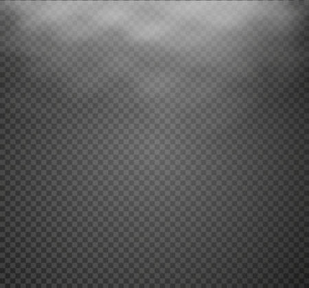 special effects: Fog or smoke isolated transparent special effect. White vector cloudiness, mist or smog background. Vector illustration.
