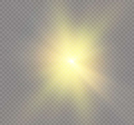 special effects: Star on a transparent background, light effect, vector illustration burst with sparkles.