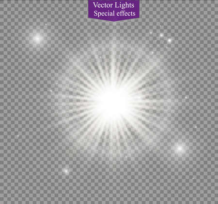 special effect: star on a transparent background,light effect,vector illustration. burst with sparkles.