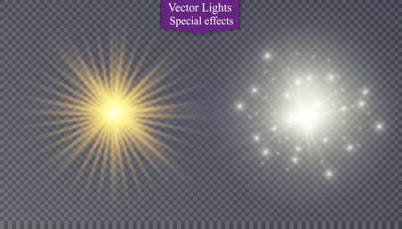 special effect: star on a transparent background,light effect,vector illustration. Illustration