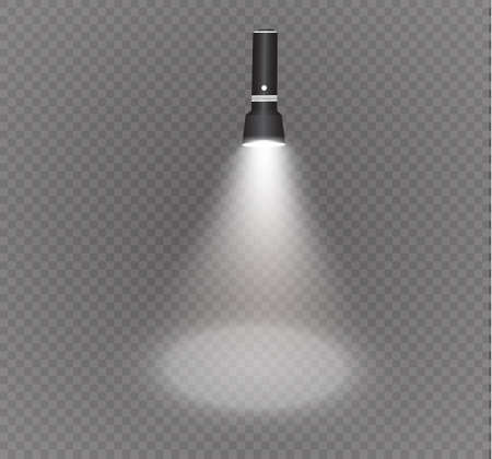 flashlight on a transparent background.the lighting effect.