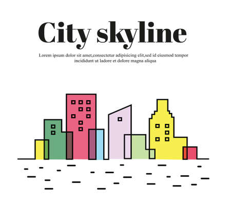 Colored silhouette of the city icon.