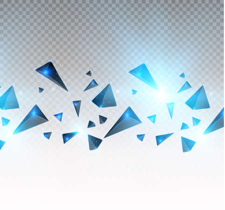 realistic triangles and light effects. 3D effect.motion of flying triangles. Vector illustration.For cover book, brochure, flyer, poster, magazine, cd cover design