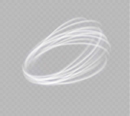 A glowing tornado. Rotating wind. Beautiful wind effect. Isolated on a transparent background. Vector illustration Vectores
