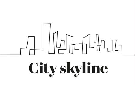 City silhouette outline image illustration