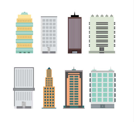 City building design image illustration