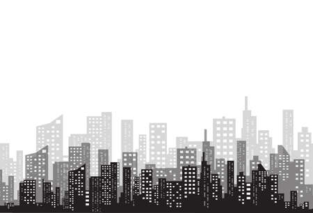 City silhouette image illustration