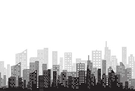 City silhouette image illustration
