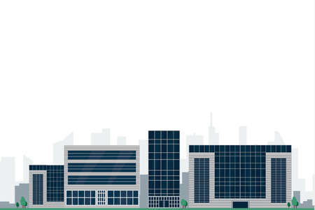 Modern city building image illustration
