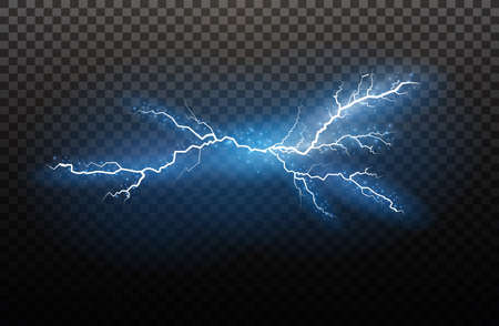 Lightning light effects image illustration Vectores