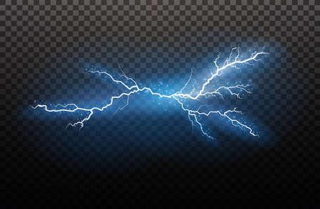 Lightning light effects image illustration Vectores