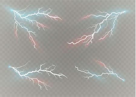 A set of lightning effects image illustration