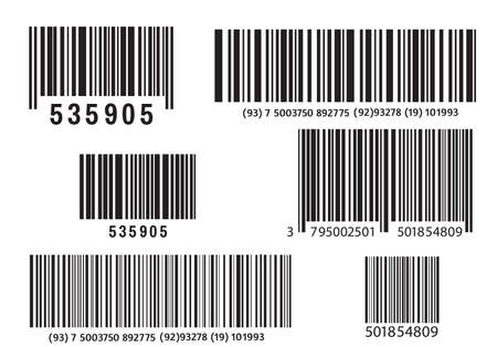 Realistic bar code icon. A modern simple flat barcode. Marketing, the concept of the Internet. Fashionable vector sign of a market trademark for website design, mobile application. Bar code logo.