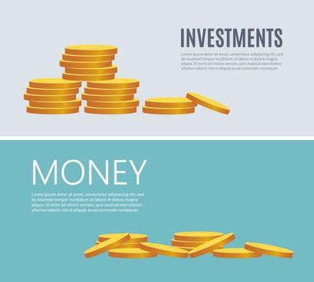 Saving dollar coin in jar. concept vector illustration Flat design style vector illustration. Saving money jar. Money Jar
