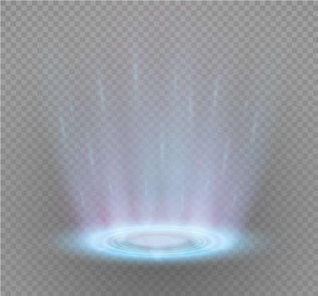 Magic portal of fantasy, futuristic teleport light effect illustration. Illustration