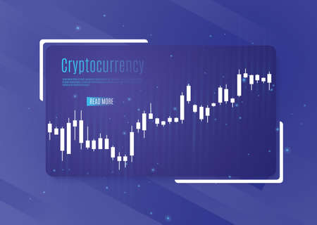Graph of cryptocurrency. graphics and analytics of cryptography. vector illustration Illustration