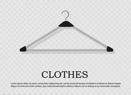 Realistic wooden hangers. For coats, sweaters, dresses, skirts, pants. Design template,layout for graphics, advertising