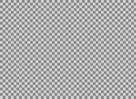 Transparent background Transparent grid. Colorless gray and white chessboard texture. Standard two-dimensional illustrative checkered background. Ilustração