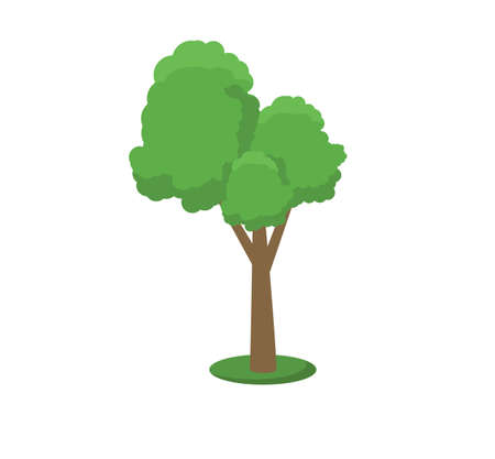Collection of trees illustrations. Can be used to illustrate any nature or healthy lifestyle topic. Flowers, grass, big and small trees, leakage, bush, landscape, garden, park. 스톡 콘텐츠