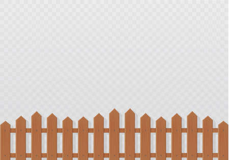 Wooden fence illustration isolated on white background.set icons fence made from vector illustration.