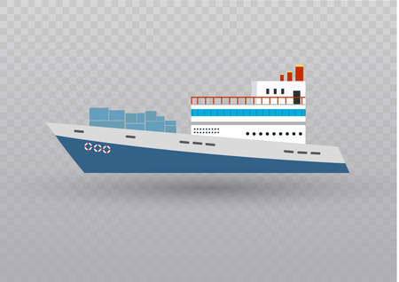 Sea or ocean cruise vector concept in flat style Ilustração