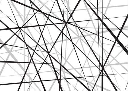 Motif géométrique abstrait de lignes chaotiques aléatoires. Fond de vecteur. Peut être utilisé dans la conception de la couverture, la conception de livre, l'affiche, l'arrière-plan du site Web ou la publicité