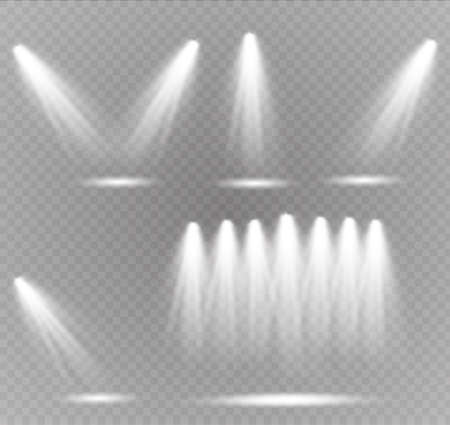 Vector spotlight. Light effect.Glow isolated white transparent light effect. Abstract special effect element design Illustration