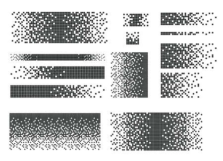 Abstract geometric pattern. Black circles on a white background. Vector illustration. Vector halftone dots