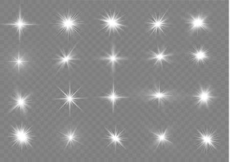 The light of a star. star glow on a transparent background explodes on a transparent background. White light. Sparkling magic dust particles. Bright Star. Transparent shining sun.