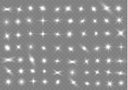 The light of a star. star glow on a transparent background explodes on a transparent background. White light. Sparkling magic dust particles. Bright Star. Transparent shining sun. 版權商用圖片 - 134436775