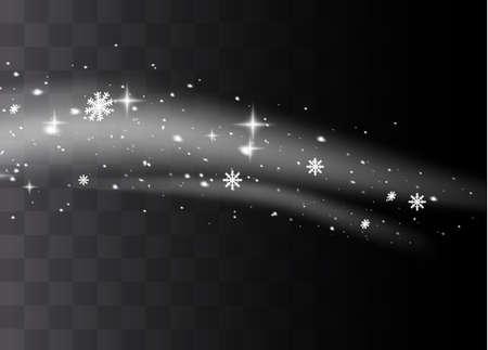White sparks glitter special light effect