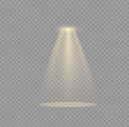 Vector spotlight. Light effect.Glow isolated white transparent light effect. Abstract special effect element design. Illustration