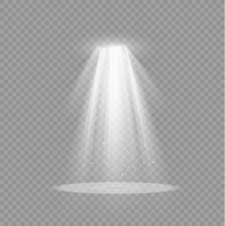 Light effect. Glow isolated white transparent light effect. Abstract special effect element design. Çizim
