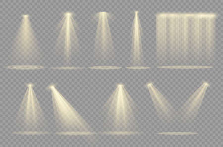 Light effect.Glow isolated white transparent light effect. Abstract special effect element design. Çizim