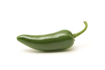 Single jalapeno pepper isolated on white background Stock Photo