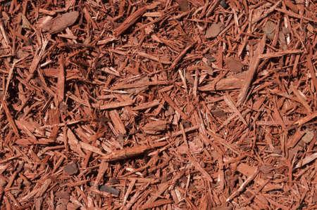 cedar: El cedro rojo virutas de madera de fondo Foto de archivo