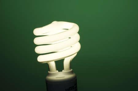 Horizontal image of fluorescent light on green background