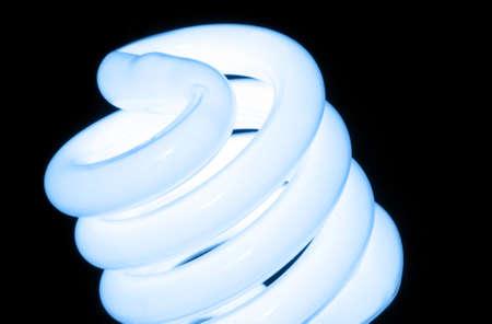 Macro photo of environmental friendly flourescent light bulb