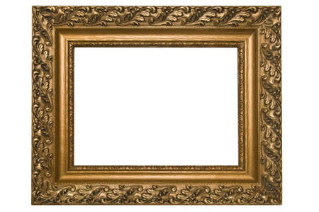 Antique picture frame on white background Stock Photo