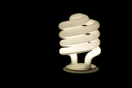 Fluorescent light with a black background. Stock Photo