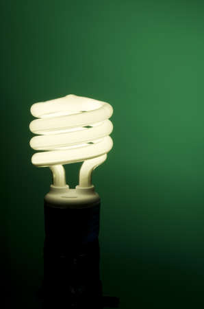 Vertical image of fluorescent light on green background
